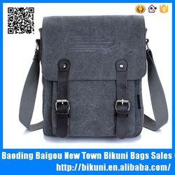 China designer canvas vertical shoulder laptop messenger bag