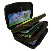 3 layers pencil case / Cheap Promotion 3 Layer Pencil Case / cheap plain pencil case