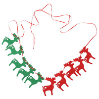 10pcs/lot Christmas Xmas Hanging String Fag Elk Deer Garland Bunting Banner Party Decorative Christmas Supplies