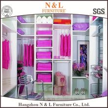 Good quality Apartment project use solid wood wardrobes factory price