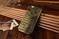 Yellow Shiny Finish Crocodile Skin print case, Leather PU, suitable for many models