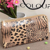 W112 low price china wholesale professional manufacturer leopard purse