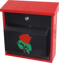 Handmade mailbox for house/Outstanding rose design mailbox