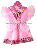 Warm Welcomed Pink Silk Girls Fairy Wings To Decorate For Craft
