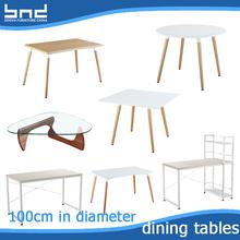 100cm diameter MDF wooden dining tables