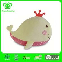baby support soft velboa cushion cute whale princess plush cushion
