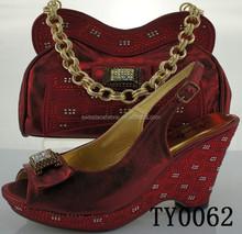 woman matching italian shoe and bag set