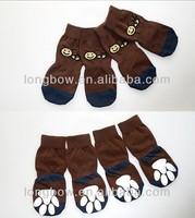 Lanle big size pet socks,little bee pattern socks,non-slip sole giant dog socks