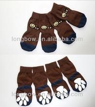 Xiboer big size pet socks,little bee pattern socks,non-slip sole giant dog socks