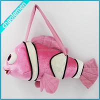 Fish Design Hot sale pictures Plush kids cheap handbag