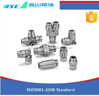 ISO 9001 casting pipe fittings 304 stainless steel precision bathroom cast