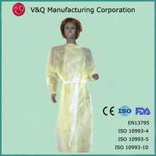 Private label 115*137 hospital use long sleeve gown