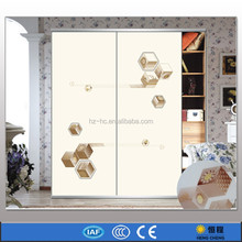 3D paint glass sliding door wardrobe door