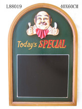 hotel furniture for sale,wall decoration menu boar,today's special sign menu board with italian chef painted,hot sale