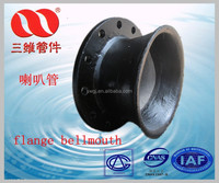 DI pipe fitting flanged bellmouth ISO2531 BSEN545 BN4772 made in China