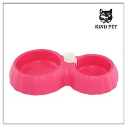 Pet supply plastic pet bowl feeder for both cat and dog