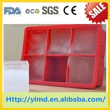 Shock Listed!!! 100% BPA Free FBA Approved Silicone Jumbo Supersize Square Ice Cube Tray Mold with Lid