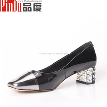 PDD050 brand woman shoes white gold color elegant dress wedding shoes patent pumps shoes