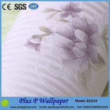 Foam backed vinyl flower design wallpaper water resistant wallpaper