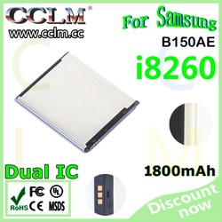 Mobile Phone Batteries 3.7V 1800mAh for Samsung B150AE i8260 Battery made in china