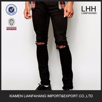 2015 trousers rip mens skinny jeans with new designs
