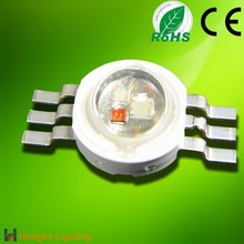 Epistar chip 3 in 1 6pin 3w rgb high power led diode