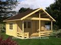 Country americana lateral pequena casa de madeira pré-fabricadas