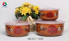 Eco-friendly ceramic bowl for bulk red color glazed bowl
