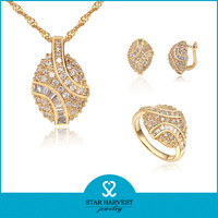 Micro pave brazilian gold jewelry in silver
