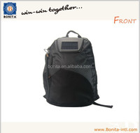 Backpack with solar panel for mobile recharger & jumbo travel bag