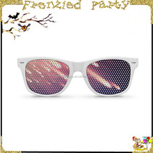New arrival wholesale star print plastic pinhole glasses FGG-0018