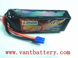 Vant power 3000mah 3s lithium polymer battery pack 11.1v 30C perfect for the Blade 350 QX and 450, Parkzone T-28 Trojan, etc
