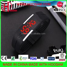 Lovely digital children wrist watch eco-friendly silicone