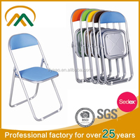 metal frame and leather seat colorful folding chair KP-C9827