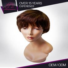 Best Quality All In Same Direction Machine Made 100% Full Cuticle Short Human Wigs