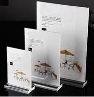 Map/Ad/Menu/Promo Brochure/Program/Card Holder Display Stands Clear Plastic