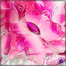 Wholesale pink butterfly custom cheap feather pens promotional