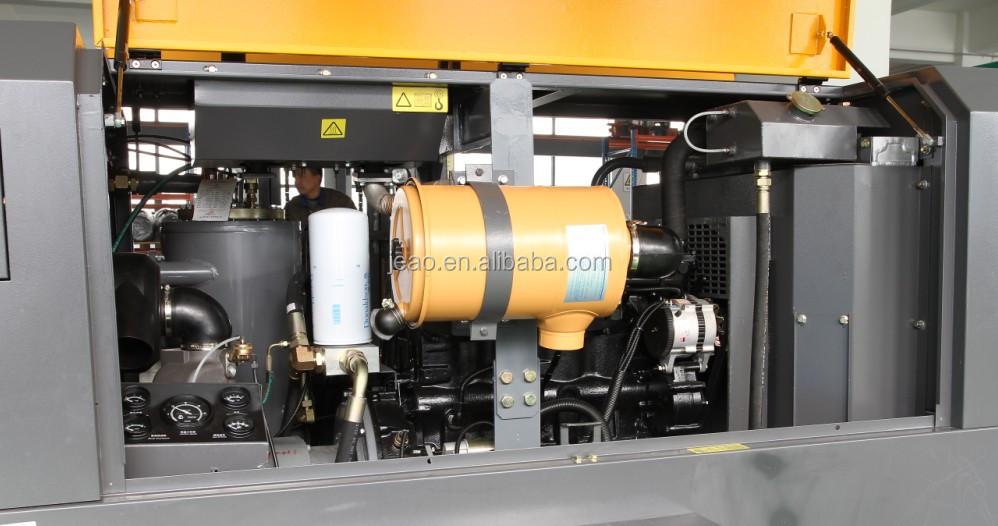 cfm diesel portable screw type bar air compressor  mining buy compressor  mining