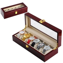 Lacquer Painted Wood Box Cherry Red Watch Display Box Watch Case