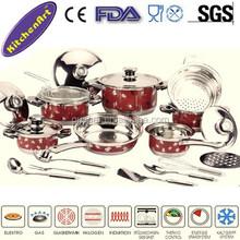 22pcs stainless steel kitchen accessories