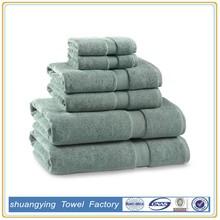 high quality! 3/6 pcs solid towel set cotton towel