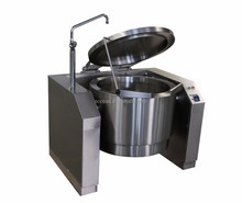 Heavy Duty Electric Boiling Pan Industrial Steam Heated Boiling Pot