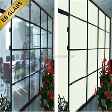 selfadhesive smart pdlc film ,Opaque treatment pdlc material magic glass smart film EB GLASS BRAND