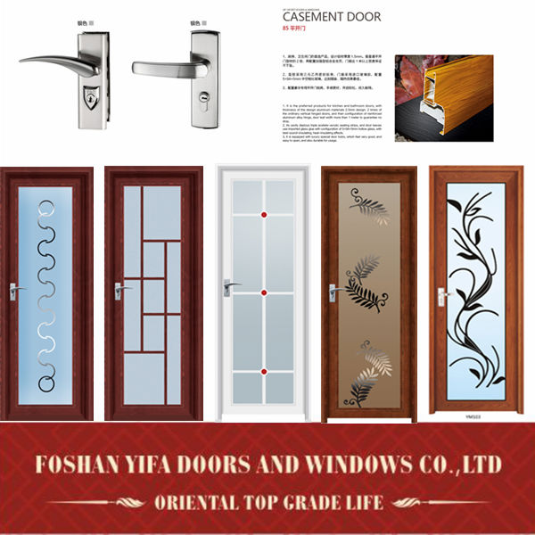Hot sale kitchen aluminum lowes glass interior swing doors for Swinging kitchen doors residential