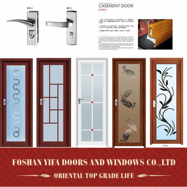 Hot sale kitchen aluminum lowes glass interior swing doors for Interior swinging kitchen doors