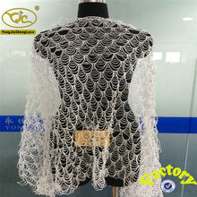 Tela de encaje de ganchillo con diseño de lujo de la flor YJC16826-74