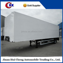 3 axle dry box semi trailer