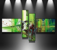Wholesale modern group abstract canvas oil paintings modern art for living room