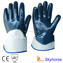 Cotton Jersey Liner Nitrile Coated Heavy Duty Winter Work gloves