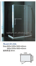 8mm tempered glass sliding door hotel style shower cabins (D226)